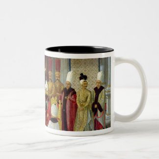 Reception at the Court of the Sultan Selim III Two-Tone Coffee Mug