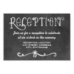 Reception Card | Black Chalkboard Charm 9 Cm X 13 Cm Invitation Card