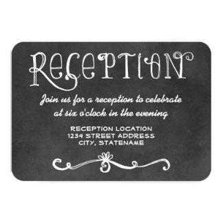 Reception Card | Black Chalkboard Charm Invite