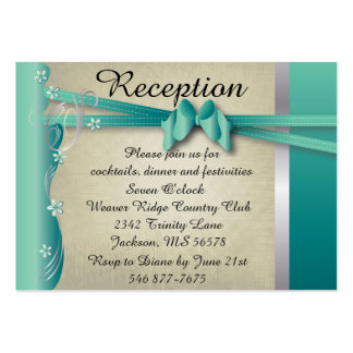 Reception Card - Vintage Classy Colors- Jade Business Cards