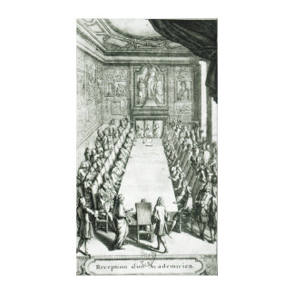 Reception of an Member of the French Academy Gallery Wrap Canvas