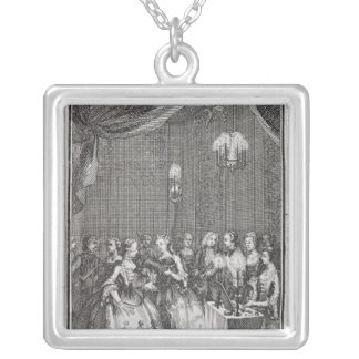 Reception of Ladies at the Lodge of Mopses Silver Plated Necklace