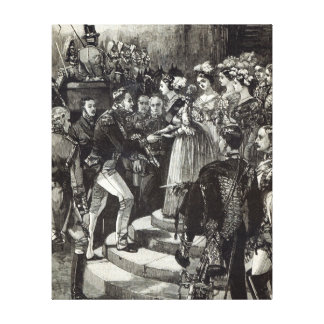 Reception of Louis Philippe at Windsor Castle Canvas Print