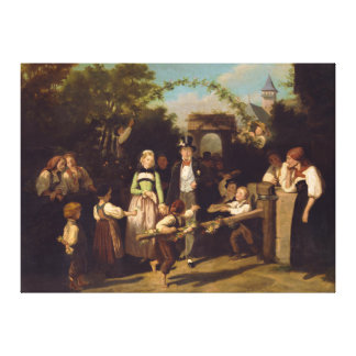 Reception of the Wedding Couple by Theodor Schuz Canvas Print