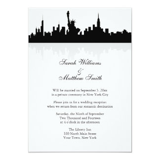 Reception Only New York Skyline Wedding Invitation