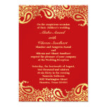 Reception Paisleys Wedding Elegant Flat Card 13 Cm X 18 Cm Invitation Card