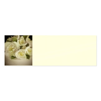 Reception Place Setting Cards - Cream Roses Pack Of Skinny Business Cards