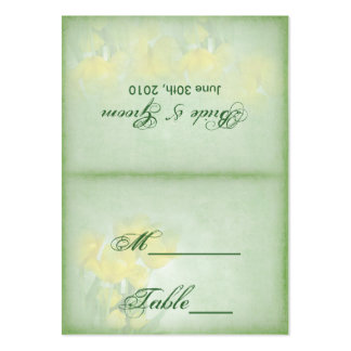 Reception Table Cards - Yellow Tulips Pack Of Chubby Business Cards