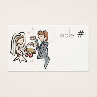 Reception Table Number Cards