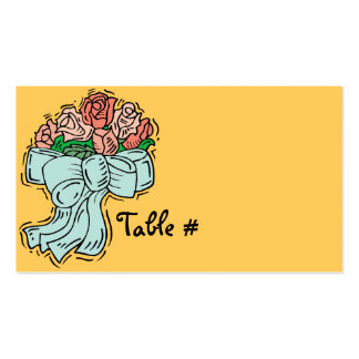 Reception Table Number Cards Pack Of Standard Business Cards