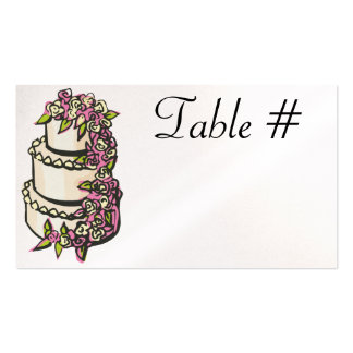 Reception Table Number Cards - Pearl Pack Of Standard Business Cards