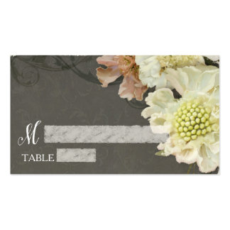 Reception Table Seating Modern Grey Floral Art Pack Of Standard Business Cards