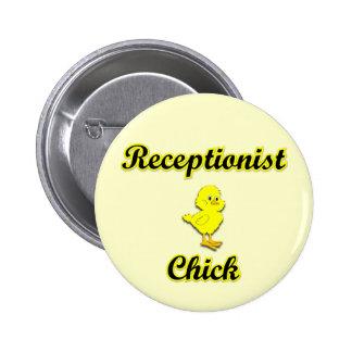 Receptionist Chick 6 Cm Round Badge