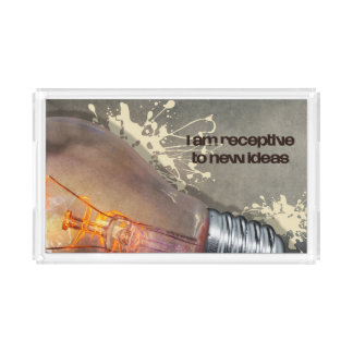 Receptive To New Ideas by Inspirational Downloads Acrylic Tray