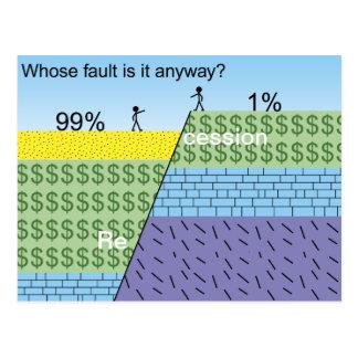 Recession fault postcard