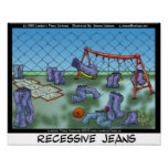 Recessive Jeans Funny Collecible Art Canvas Prints Poster