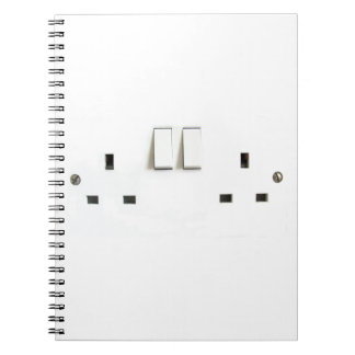 Recharge ! Funny Photo of UK Electrical Outlet Notebooks