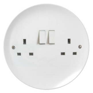 Recharge ! Funny Photo of UK Electrical Outlet Plate