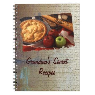 Recipe book spiral notebook