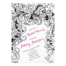Recipe Bridal Shower Invitation | Carved Floral