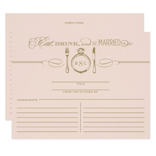 Recipe Card | Eat, Drink & Be Married