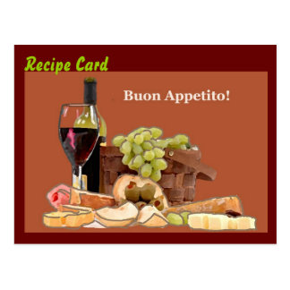 Recipe Card Gift Set - Buon Appetito Postcard