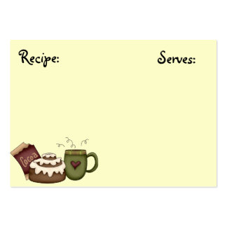 Recipe Card Large Business Cards (Pack Of 100)