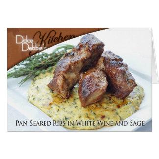 Recipe Card - Pan Seared Ribs