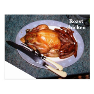 Recipe Card - Roast chicken Postcard