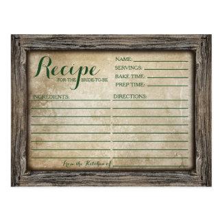 Recipe Card | Rustic Calligraphy Card