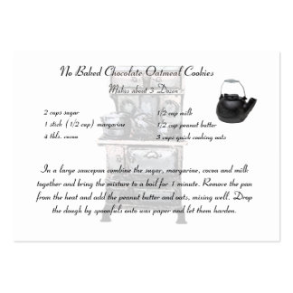 Recipe card smaller size pack of chubby business cards