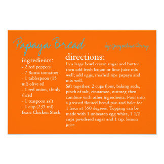 Recipe Card   Your Recipe  or Personalized Announcements