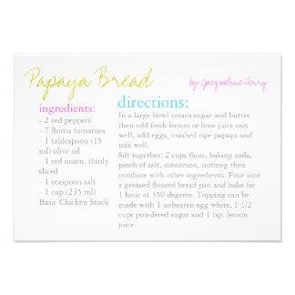 Recipe Card   Your Recipe  pmulti Personalized Announcement
