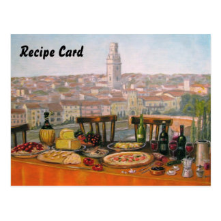 Recipe Cards Italian Fine Art Postcard