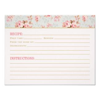 Recipe Cards | Vintage Garden Party 11 Cm X 14 Cm Invitation Card