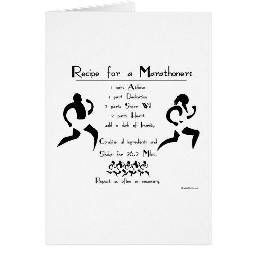Recipe For a Marathoner Good Luck Card