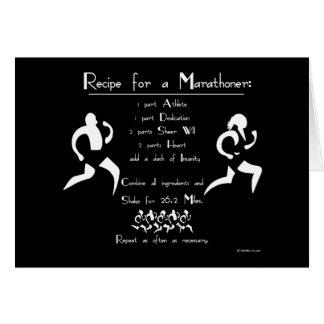 Recipe For a Marathoner Greeting Card