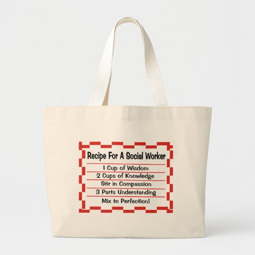 Recipe for a Social Worker Tote Bag