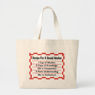 Recipe for a Social Worker Large Tote Bag