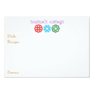 """""""Recipe for a Strong Kid"""" holiday card 13 Cm X 18 Cm Invitation Card"""