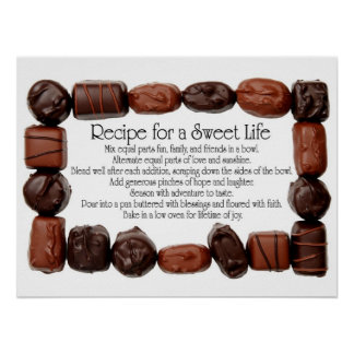 Recipe for a Sweet Life Candy Frame Poster