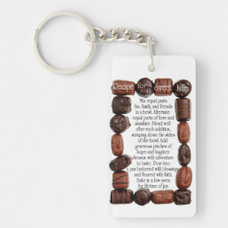 Recipe for a Sweet Life Candy Frame Single-Sided Rectangular Acrylic Key Ring