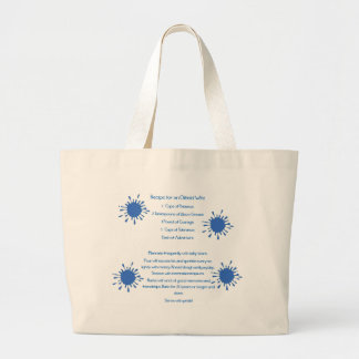 Recipe for an Oilfield Wife Jumbo Tote Bag