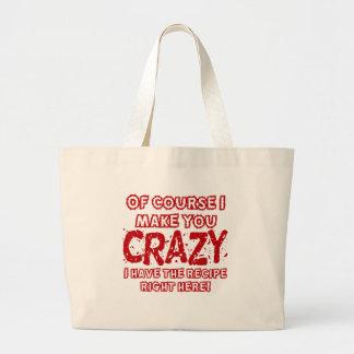 Recipe For Crazy Canvas Bag