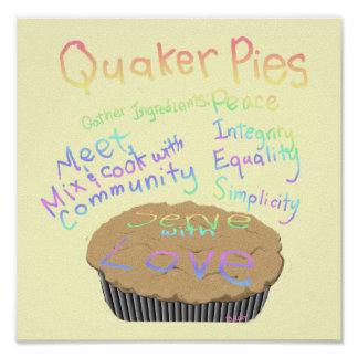 Recipe for Quaker Pies Poster