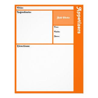 Recipe Pages (Orange) 21.5 Cm X 28 Cm Flyer