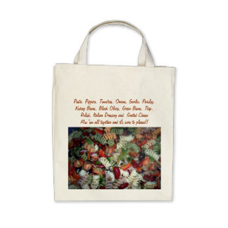 Recipe Salad Grocery Tote Bags