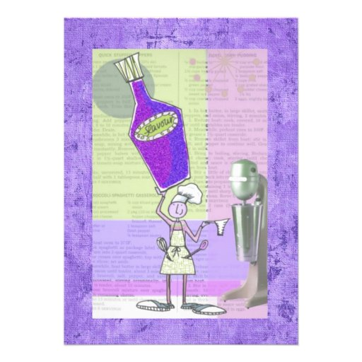 Recipe Trading Cards Personalized Invitations
