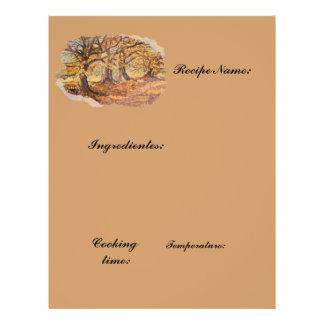recipes paper 21.5 cm x 28 cm flyer