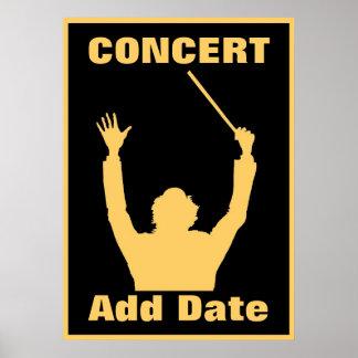 Recital, Concert Poster Date